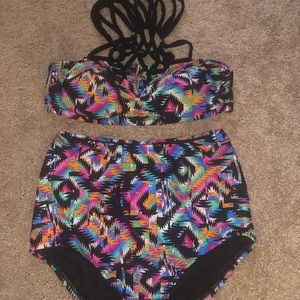 Swimsuits for All bikini high waisted size 10.
